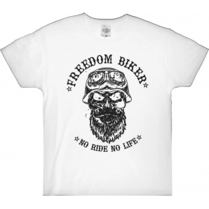 T-shirt biały Freedom Biker - Choppers Division