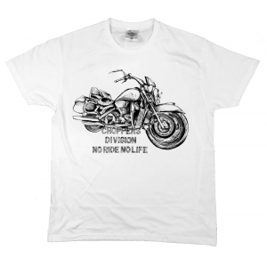 T-shirt biały Extreme Engine - Choppers Division