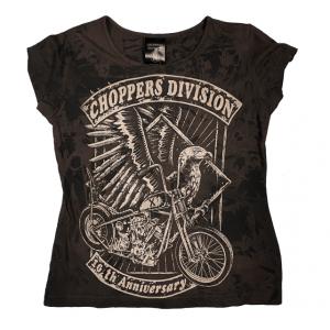 Damski t-shirt trawiony X urodziny